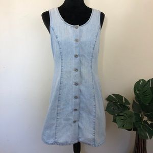 Old Navy denim button down tank dress
